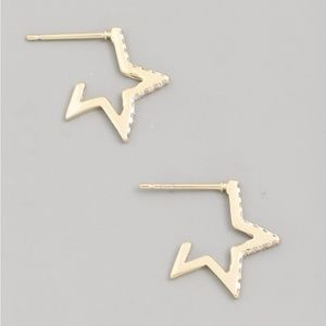 Mini Open Star Earrings